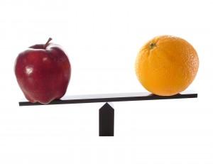 Metaphor Compare Apples To Oranges Light